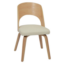 Bendino Dining Chair, White, Faux Leather 13314