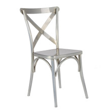 Jenbo Dining Side Chair, Silver, Metal 13327