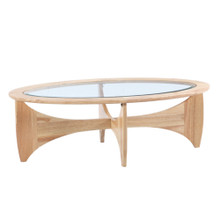 Opec Coffee Table, Brown, Glass 13332