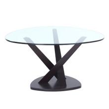 Split Coffee Table, Black, Glass 13334