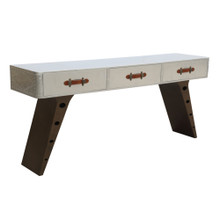Fanta Desk, White, Leather 13382