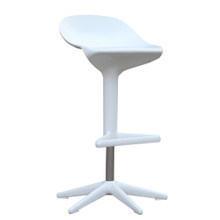 Different Bar Stool Chair, White, Plastic 13393