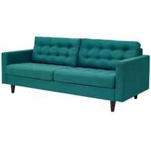 Empress Upholstered Fabric Sofa, Fabric, Aqua Blue 13215