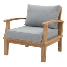 Marina Outdoor Patio Teak Armchair, Wood, Clear Natural 13222