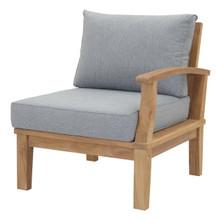 Marina Outdoor Patio Teak Left-Facing Sofa, Wood, Grey Gray Natural 13227