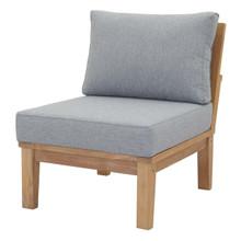 Marina Armless Outdoor Patio Teak Sofa, Wood, Grey Gray Natural 13231