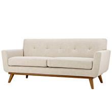 Engage Upholstered Fabric Loveseat, Fabric, Beige 13237