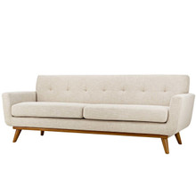 Engage Upholstered Fabric Sofa, Fabric, Beige 13239