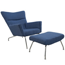 Class Lounge Chair in Blue Tweed
