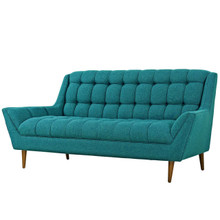 Response Upholstered Fabric Loveseat, Fabric, Aqua Blue 13303