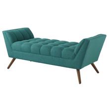 Response Medium Upholstered Fabric Bench, Fabric, Aqua Blue 13307