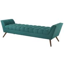 Response Upholstered Fabric Bench, Fabric, Aqua Blue 13309