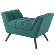 Response Upholstered Fabric Ottoman, Fabric, Aqua Blue 13311