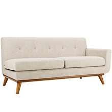 Engage Right-Arm Upholstered Fabric Loveseat, Fabric, Beige 13312