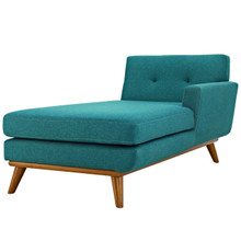 Engage Left-Facing Upholstered Fabric Chaise, Fabric, Aqua Blue 13315