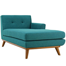 Engage Right-Facing Chaise, Fabric, Aqua Blue 13317