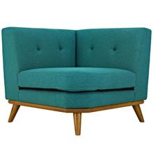 Engage Corner Sofa, Fabric, Aqua Blue 13319
