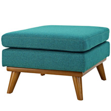 Engage Upholstered Fabric Ottoman, Fabric, Aqua Blue 13321