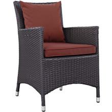 Convene Dining Outdoor Patio Armchair, Rattan Wicker, Red 13422