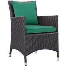 Convene Dining Outdoor Patio Armchair, Rattan Wicker, Green 13423