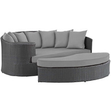 Sojourn Outdoor Patio Sunbrella® Daybed, Sunbrella Rattan Wicker, Grey Gray 13444