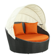 Siesta Canopy Daybed in Espresso Orange