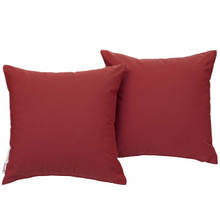 Summon 2 Piece Outdoor Patio Pillow Set, Fabric, Red 13463