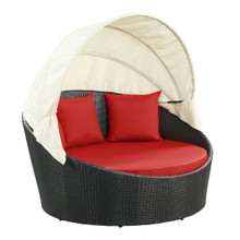 Siesta Canopy Daybed in Espresso Red