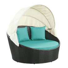 Siesta Canopy Daybed in Espresso Turquoise