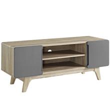"Tread 47"" TV Stand, Wood, Grey Gray Natural 13563"