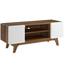 "Tread 47"" TV Stand, Wood, Natural Brown White 13564"