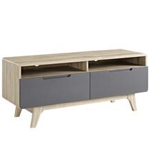 """Origin 47"""" TV Stand, Wood, Grey Gray Natural 13565"""