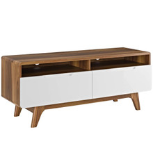 "Origin 47"" TV Stand, Wood, Natural Brown White 13566"