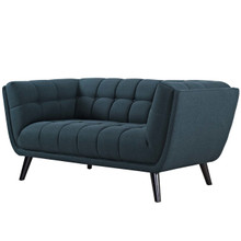 Bestow Upholstered Fabric Loveseat, Fabric, Blue 13567