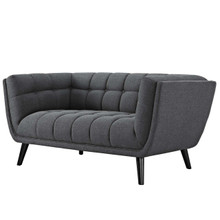 Bestow Upholstered Fabric Loveseat, Fabric, Grey Gray 13568