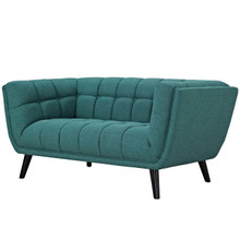 Bestow Upholstered Fabric Loveseat, Fabric, Aqua Blue 13569