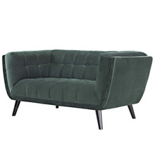 Bestow Velvet Loveseat, Velvet Fabric, Green 13570