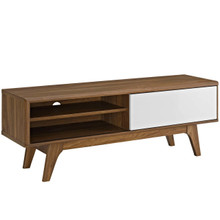 "Envision 44"" TV Stand, Wood, Natural Brown White 13573"