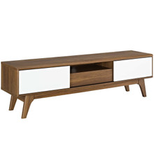 "Envision 59"" TV Stand, Wood, Natural Brown White 13575"