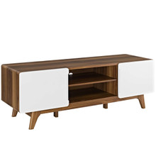 "Tread 59"" TV Stand, Wood, Natural Brown White 13579"