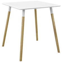 """Continuum 28"""" Square Dining Table, Wood, White 13608"""