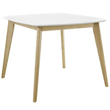"""Stratum 40"""" Dining Table, Wood, White 13610"""