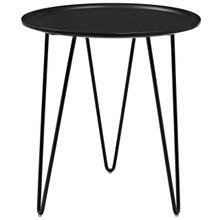 Digress Side Table, Metal Steel, Black 13626