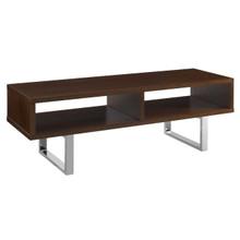 "Amble 47"" Low Profile TV Stand, Wood Metal Steel, Brown 13631"