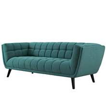 Bestow Upholstered Fabric Sofa, Fabric, Aqua Blue 13640