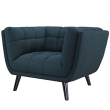 Bestow Upholstered Fabric Armchair, Fabric, Blue 13641