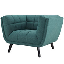 Bestow Upholstered Fabric Armchair, Fabric, Aqua Blue 13643