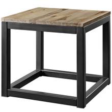 Attune Side Table, Metal Steel Wood, Brown 13653