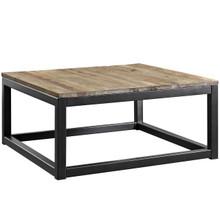 Attune Coffee Table, Metal Steel Wood, Brown 13654