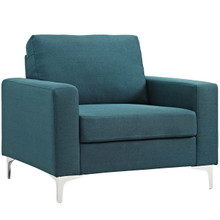 Allure Upholstered Armchair, Fabric, Blue 13656